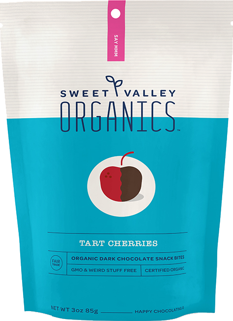 Dark Chocolate Tart Cherries packaging
